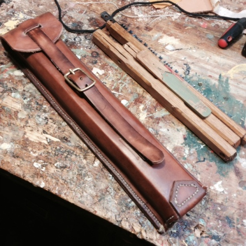 Just Completed - Folding Bucksaw and Leather Case