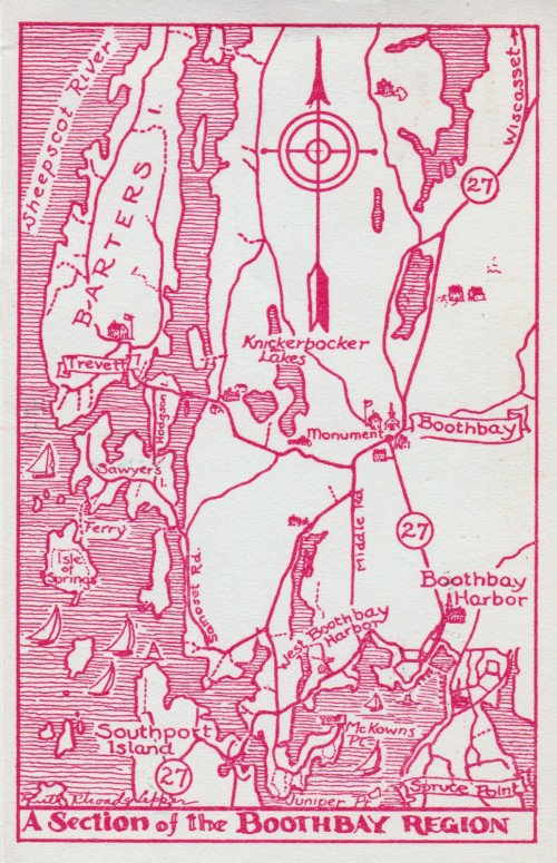 Boothbay Region Section Map
